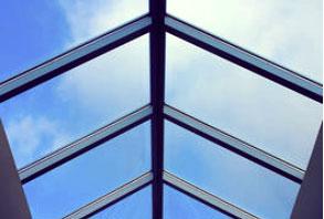 aliuminio konstrukcija - stogo langai